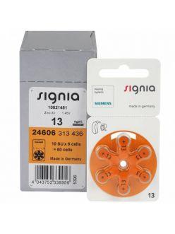 Батарейки к слуховым аппаратам № 13, SIGNIA (6 штук)