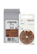 Батарейки к слуховым аппаратам № 312, SIGNIA (6 штук)