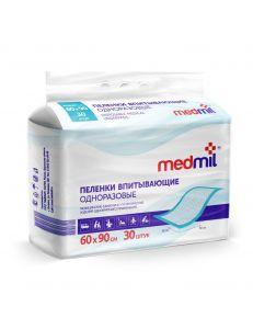 Пеленка впитывающая одноразовая 60*90 см, Medmil (Медмил), 1 шт
