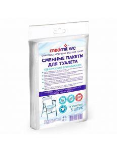 Сменные впитывающие пакеты для туалета, 5 шт, Medmil WC (Медмил)