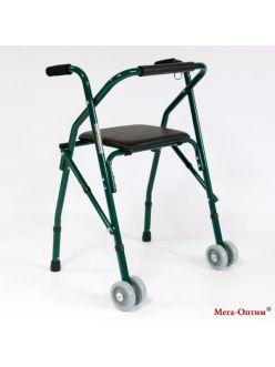 Опоры-ходунки (роллаторы) с сиденьем, без корзины, FS914L, Мега-Оптим