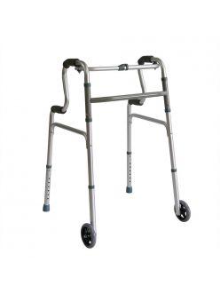 Опоры-ходунки с колесами, двухуровневые, нешагающие, PMR816LG-5, Мега-Оптим