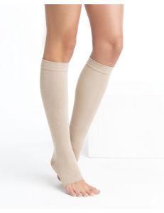 Чулок компрессионный до колена с открытым мыском, 3 кл, кремовый, 1 шт, Центр компресс (ЦК)