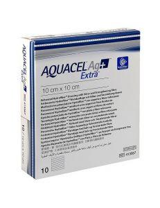 Повязка Аквасель Экстра с серебром и усиленным волокном (AQUACEL EXTRA AG+), неадгезивная, 5*5 см, арт.413 566, ConvaTec