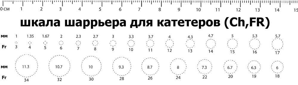 шкала Шаррьера для катетеров